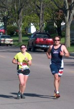 Brookings Marathon Mile 12 with Michelle