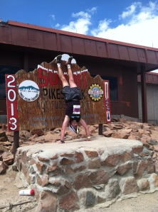 Pikes Peak Ascent  - finish cries out for a handstand!